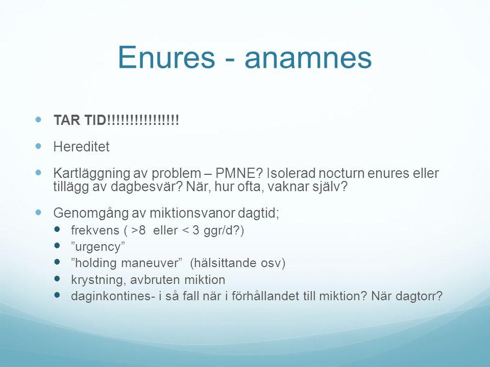 Enures - anamnes TAR TID!!!!!!!!!!!!!!!! Hereditet
