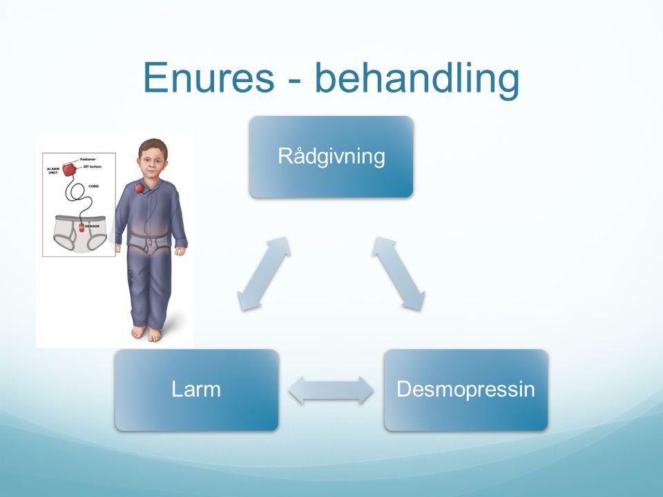 Enures - behandling Rådgivning Desmopressin Larm