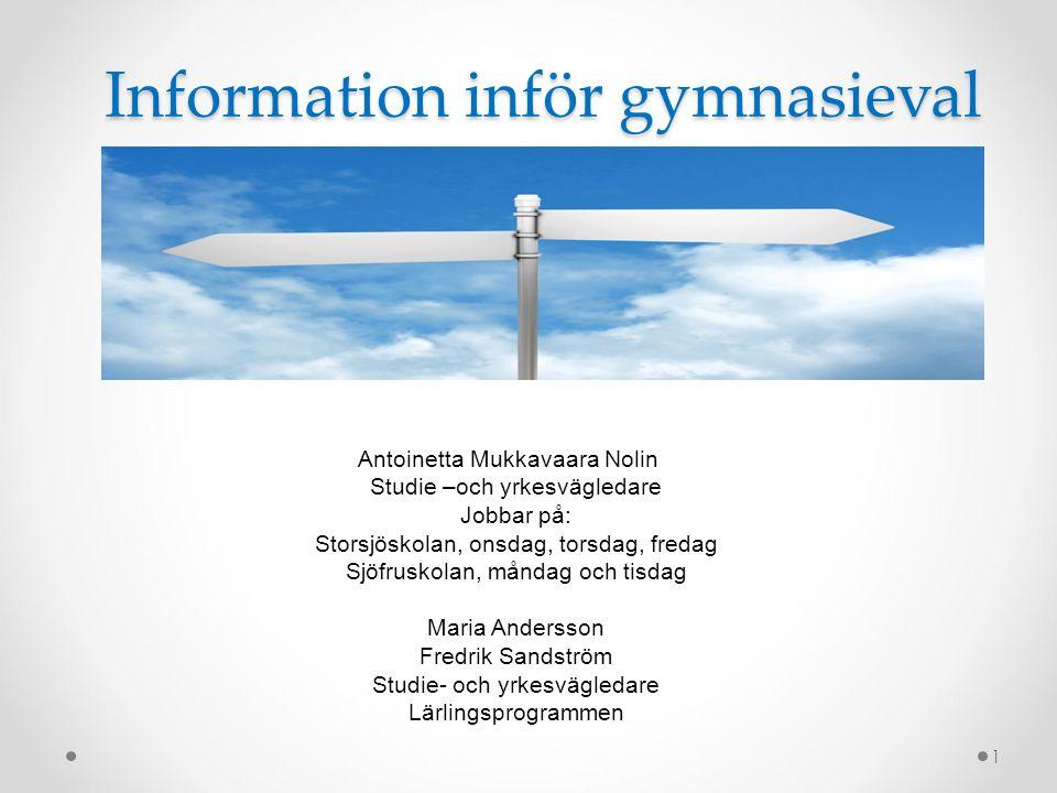 Information inför gymnasieval