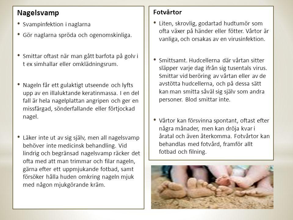 Nagelsvamp Fotvårtor Svampinfektion i naglarna