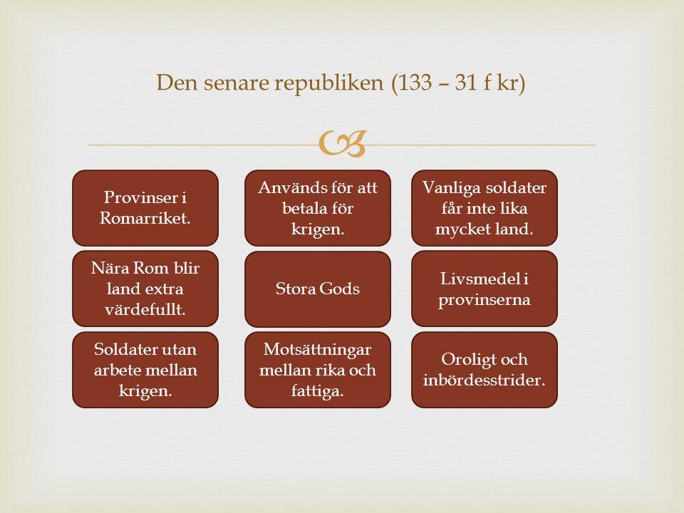 Den senare republiken (133 – 31 f kr)