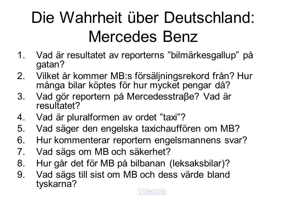 Die Wahrheit über Deutschland: Mercedes Benz