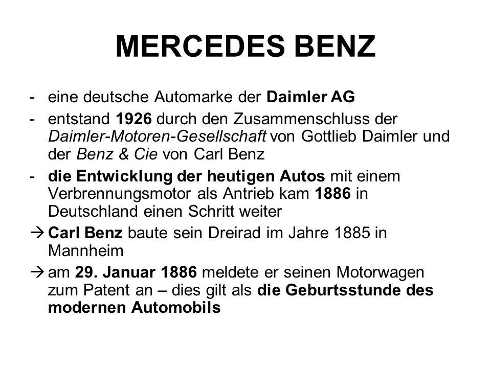 MERCEDES BENZ eine deutsche Automarke der Daimler AG