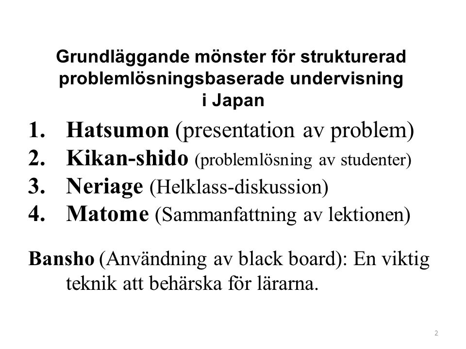 Hatsumon (presentation av problem)