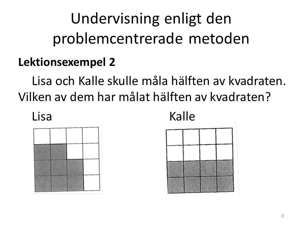 Undervisning enligt den problemcentrerade metoden