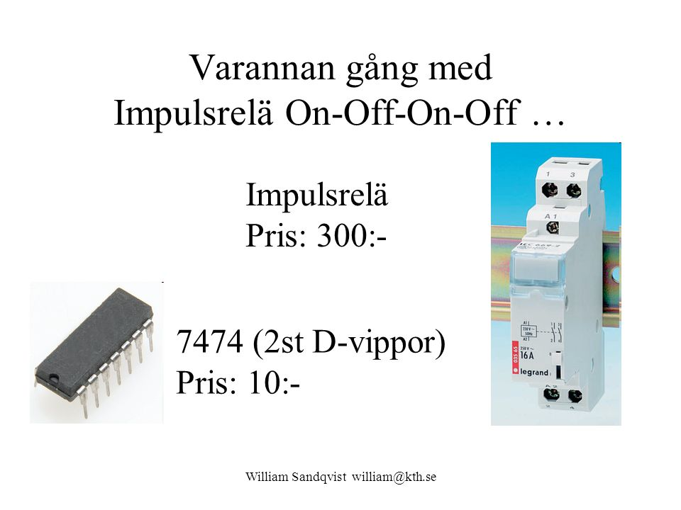 Varannan gång med Impulsrelä On-Off-On-Off …
