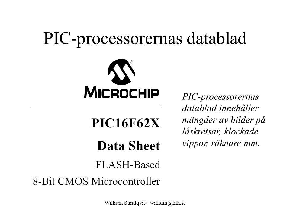 PIC-processorernas datablad