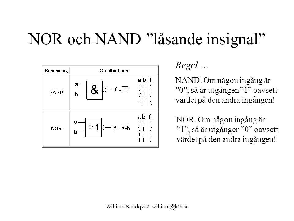 NOR och NAND låsande insignal