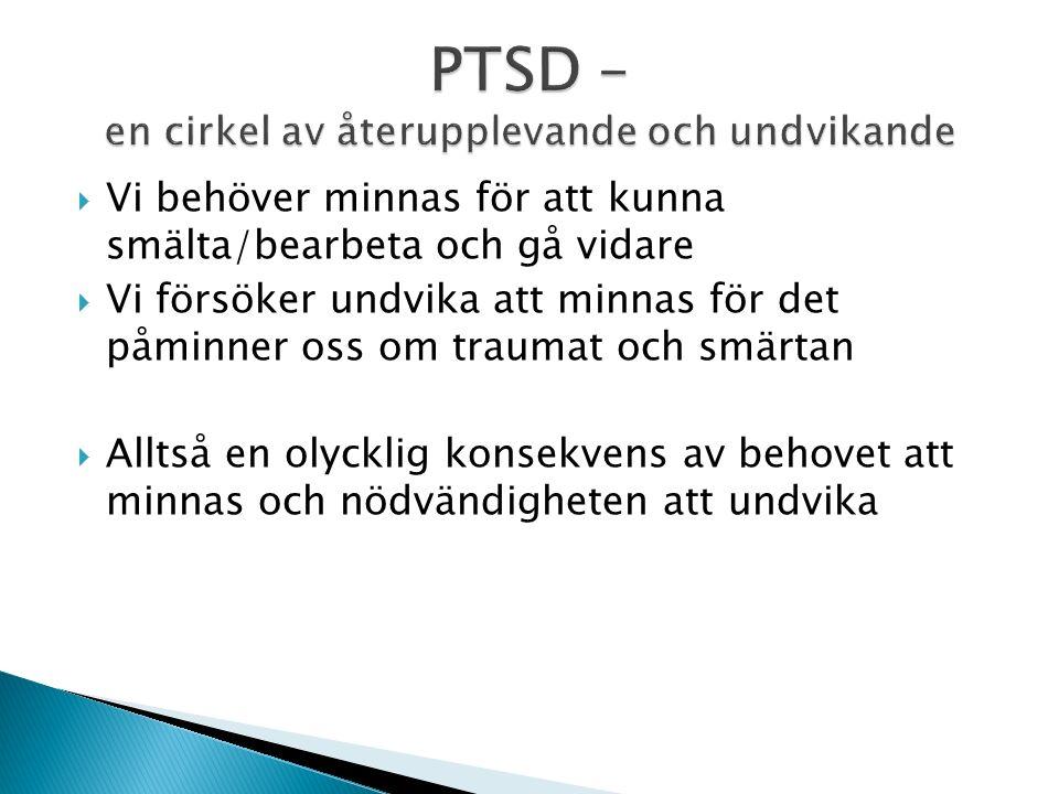 PTSD – en cirkel av återupplevande och undvikande