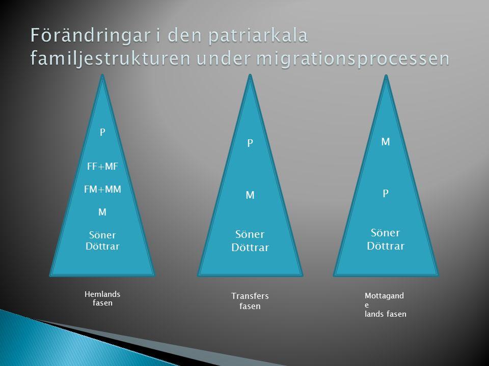 Förändringar i den patriarkala familjestrukturen under migrationsprocessen