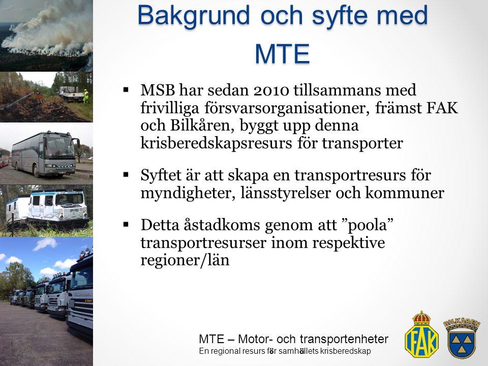 Bakgrund och syfte med MTE
