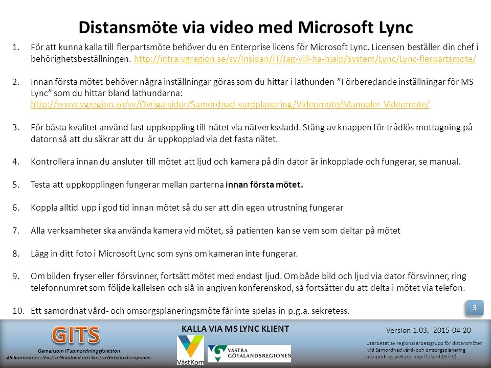 Distansmöte via video med Microsoft Lync