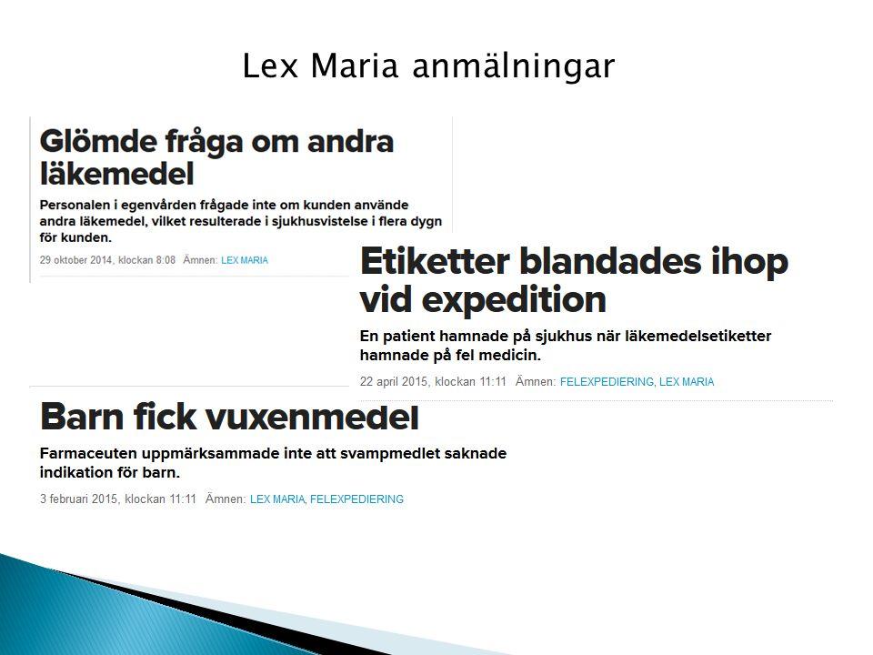 Lex Maria anmälningar