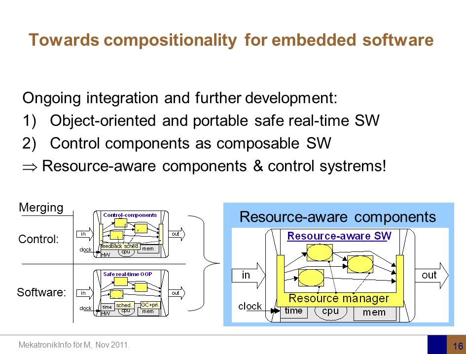 Towards compositionality for embedded software