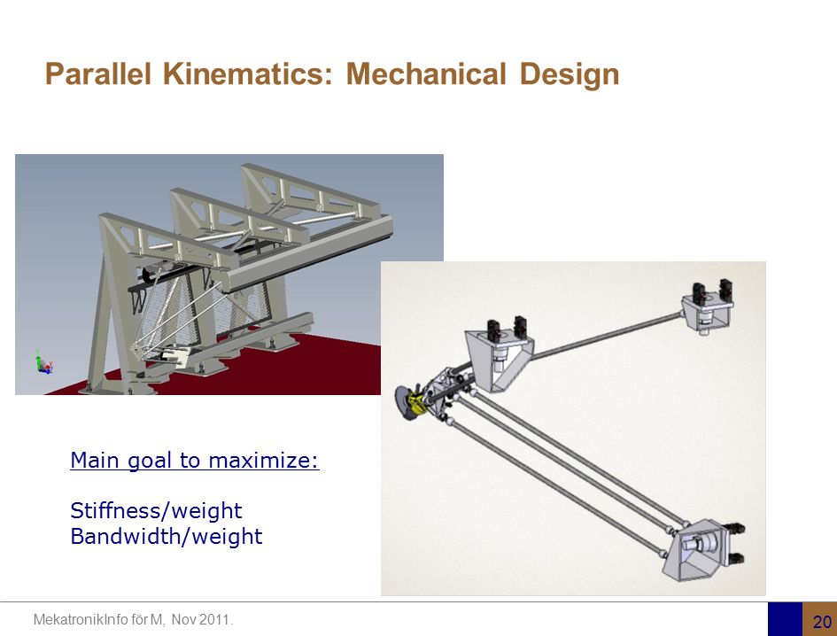 Parallel Kinematics: Mechanical Design