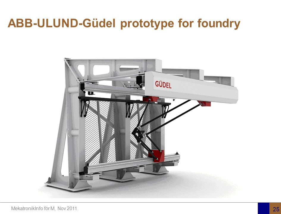 ABB-ULUND-Güdel prototype for foundry