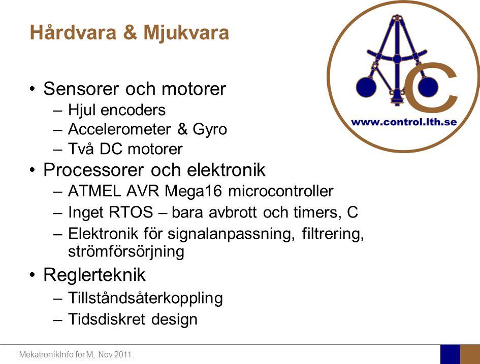Hårdvara & Mjukvara Sensorer och motorer Processorer och elektronik