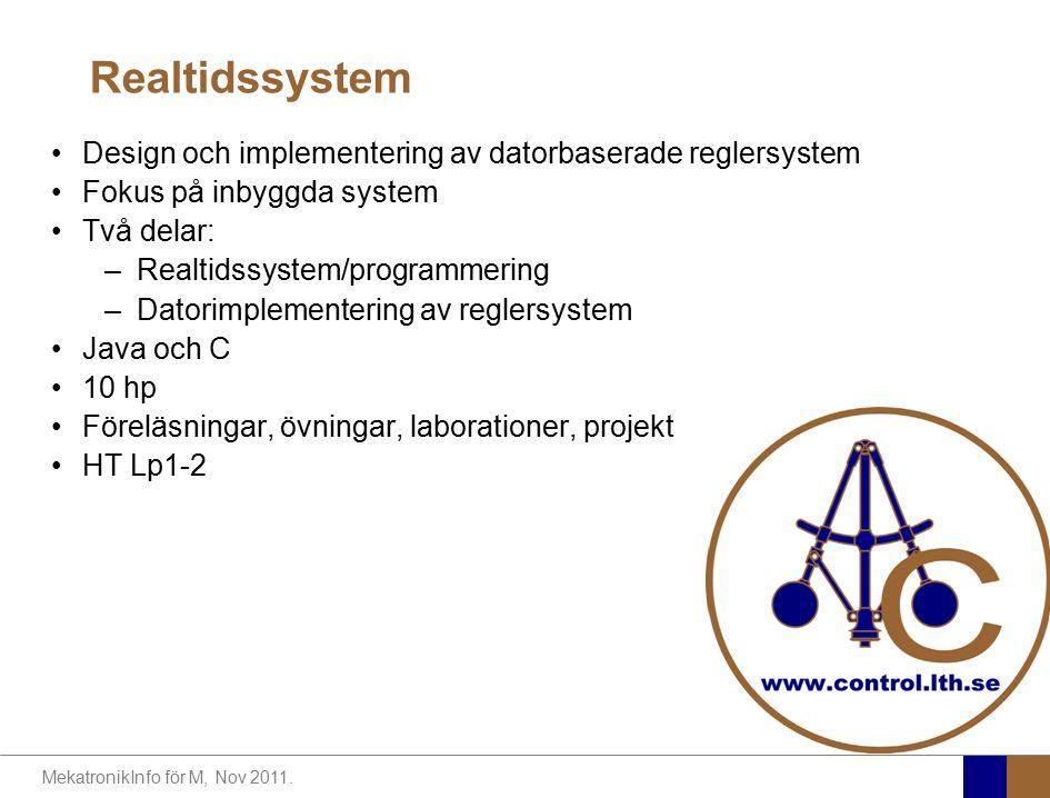 Realtidssystem Design och implementering av datorbaserade reglersystem