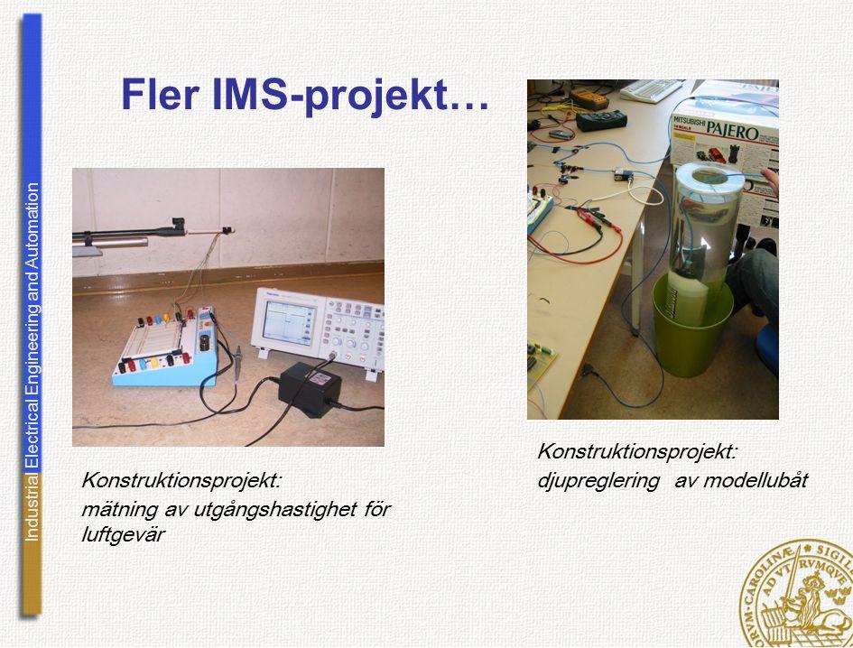 Fler IMS-projekt… Konstruktionsprojekt: djupreglering av modellubåt