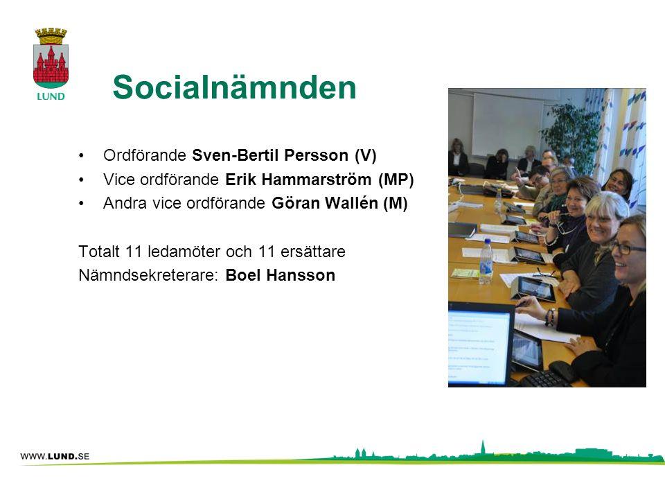 Socialnämnden Ordförande Sven-Bertil Persson (V)