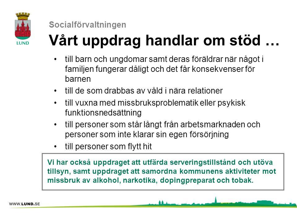 Socialförvaltningen Vårt uppdrag handlar om stöd …