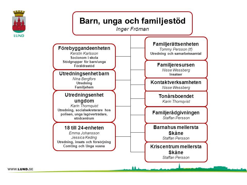 Barn, unga och familjestöd Inger Fröman