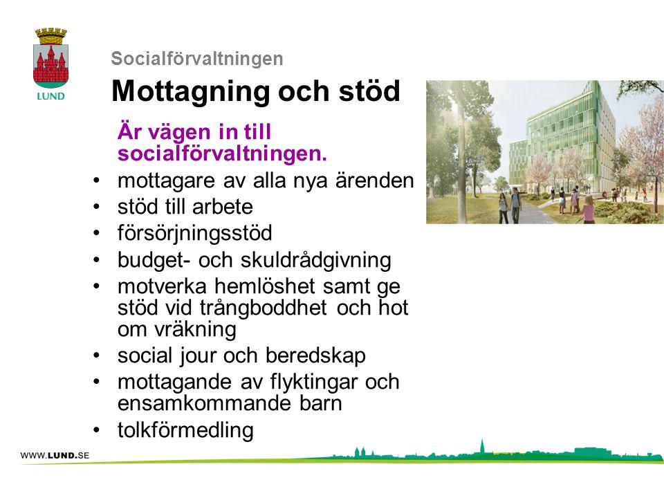 Socialförvaltningen Mottagning och stöd