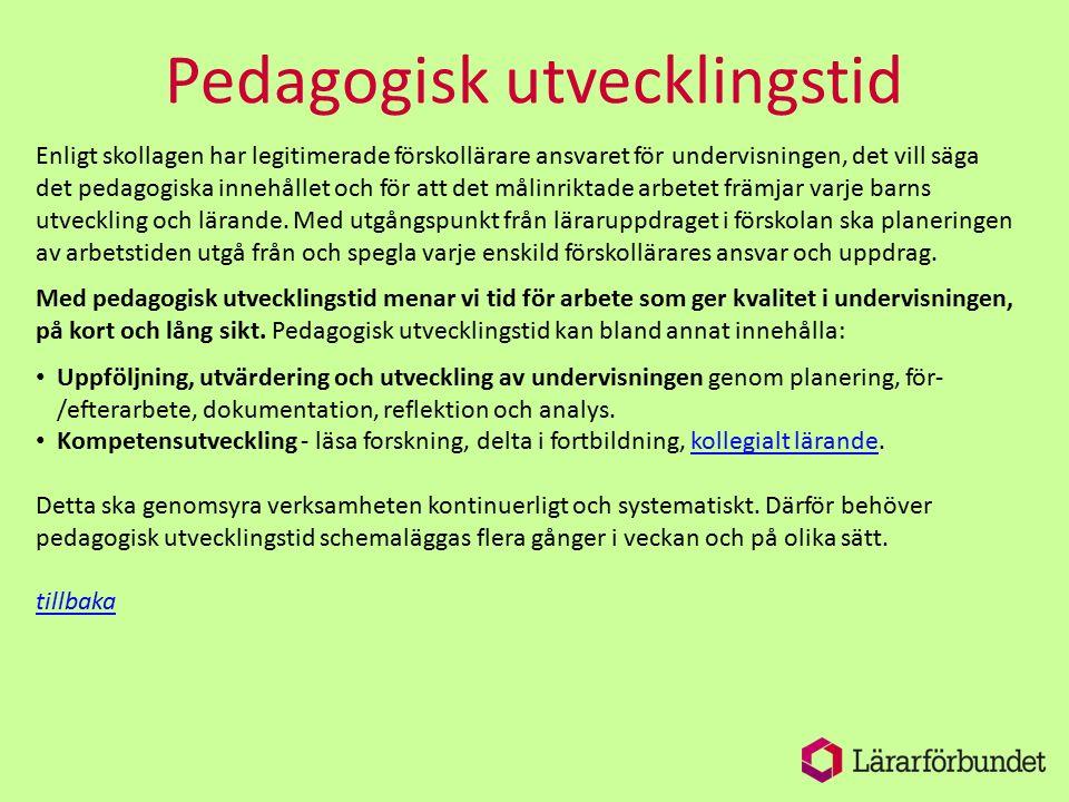 Pedagogisk utvecklingstid
