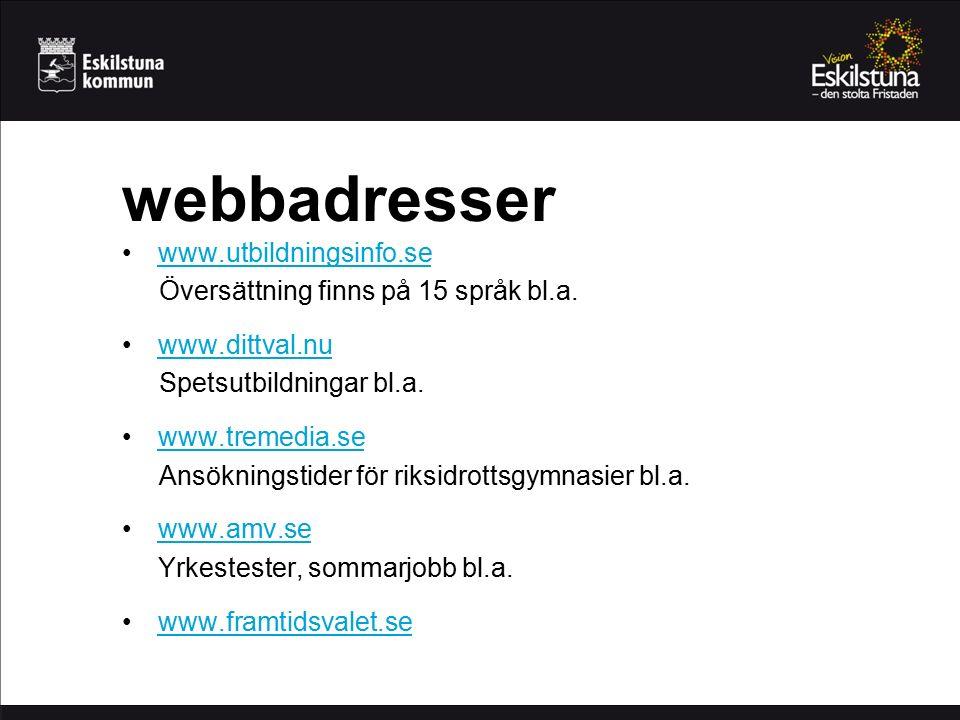 webbadresser www.utbildningsinfo.se