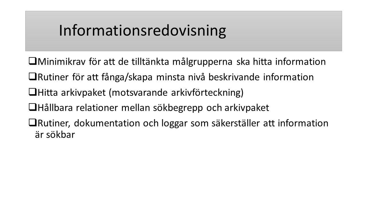 Informationsredovisning
