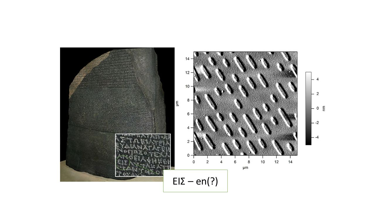 ΕΙΣ – en( ) Rosettastenen (ca 200 år f kr)