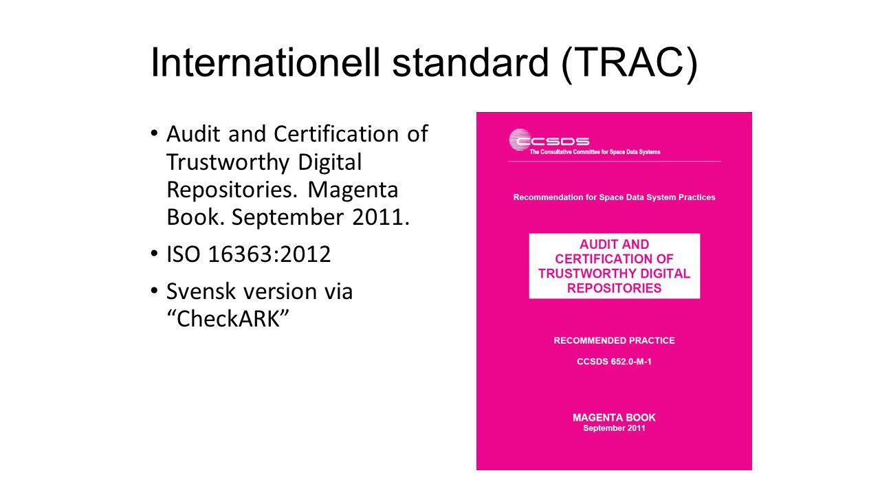 Internationell standard (TRAC)