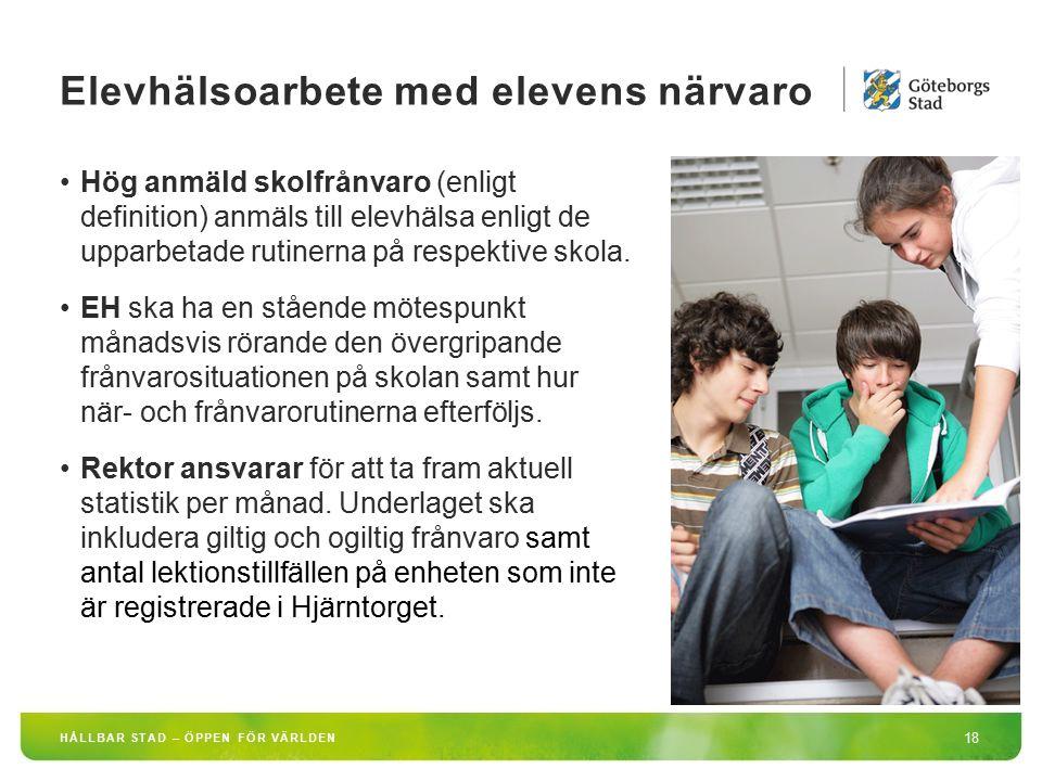 Elevhälsoarbete med elevens närvaro