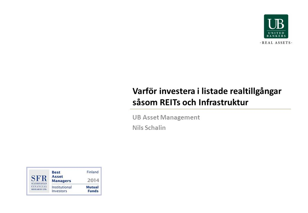 UB Asset Management Nils Schalin