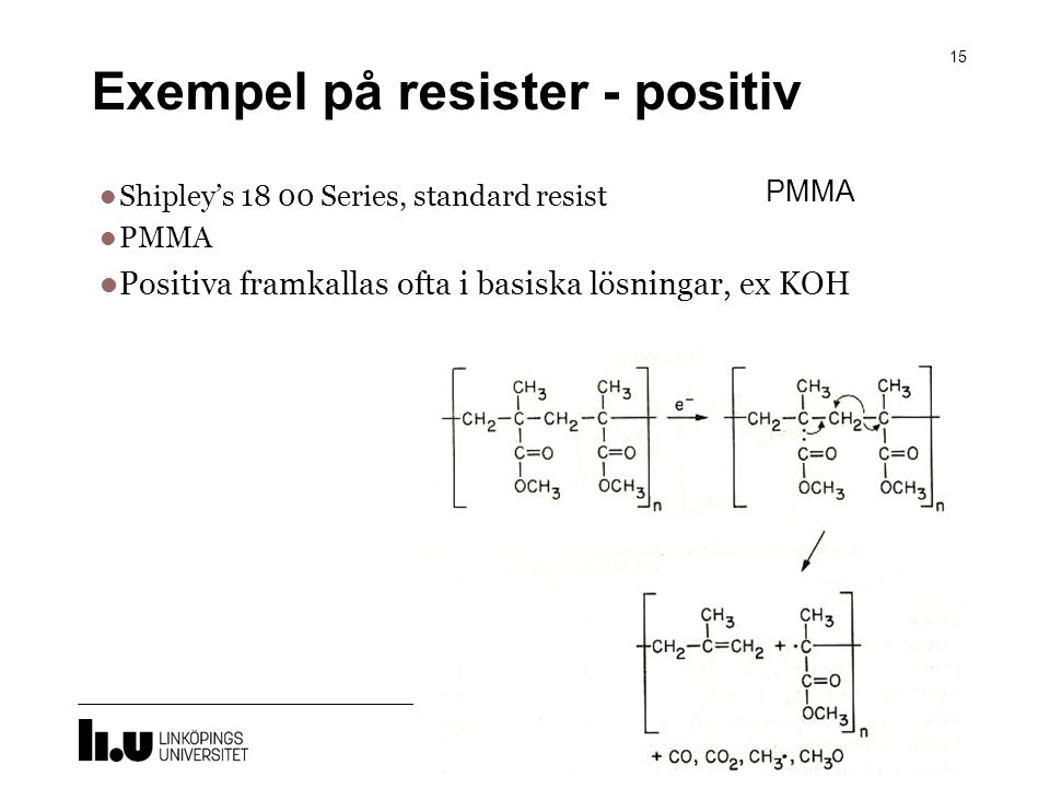 Exempel på resister - positiv