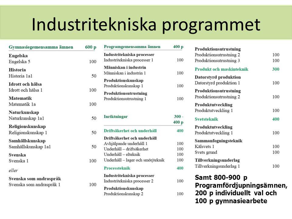 Industritekniska programmet