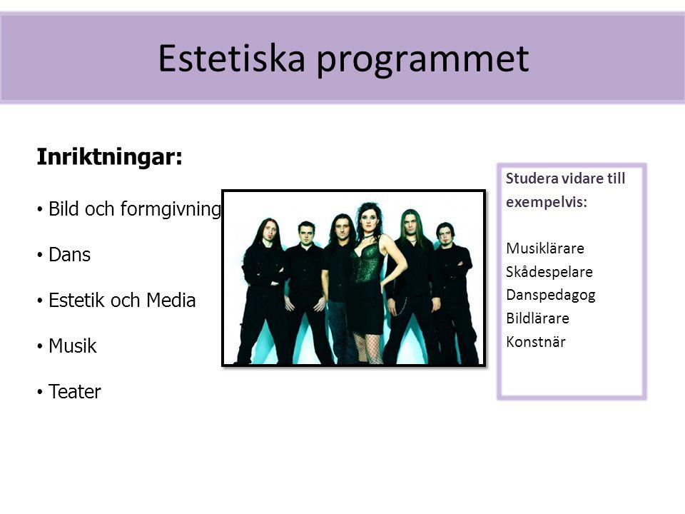 Estetiska programmet Inriktningar: Bild och formgivning Dans