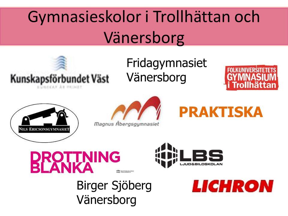 Gymnasieskolor i Trollhättan och Vänersborg