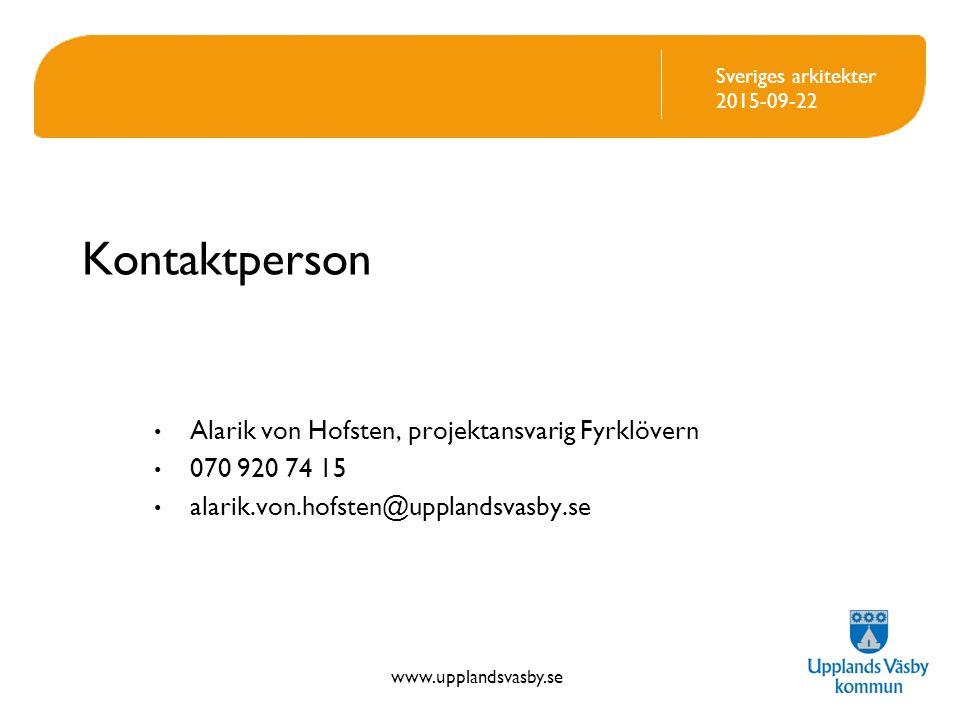 Kontaktperson Alarik von Hofsten, projektansvarig Fyrklövern