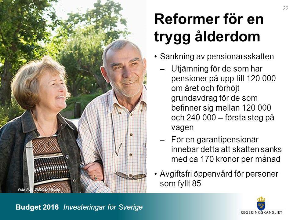 Reformer för en trygg ålderdom