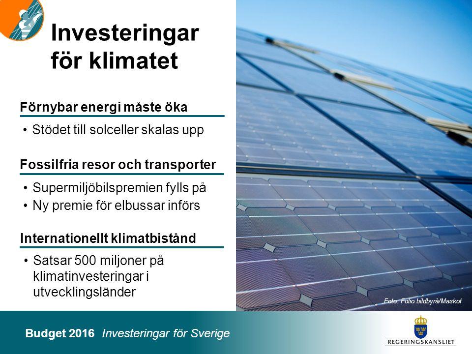 Investeringar för klimatet
