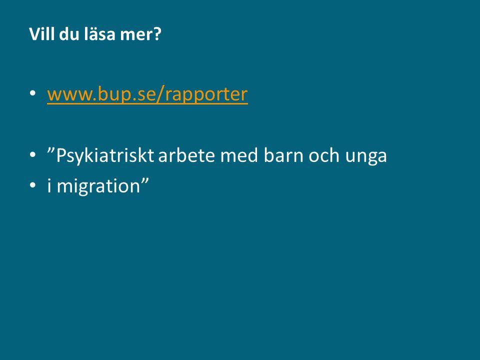 Psykiatriskt arbete med barn och unga i migration