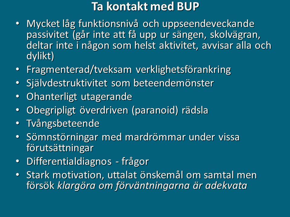 Ta kontakt med BUP