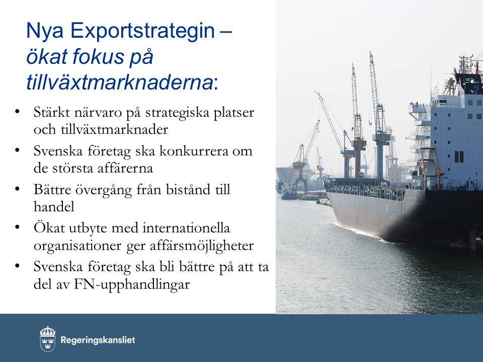 Nya Exportstrategin – ökat fokus på tillväxtmarknaderna: