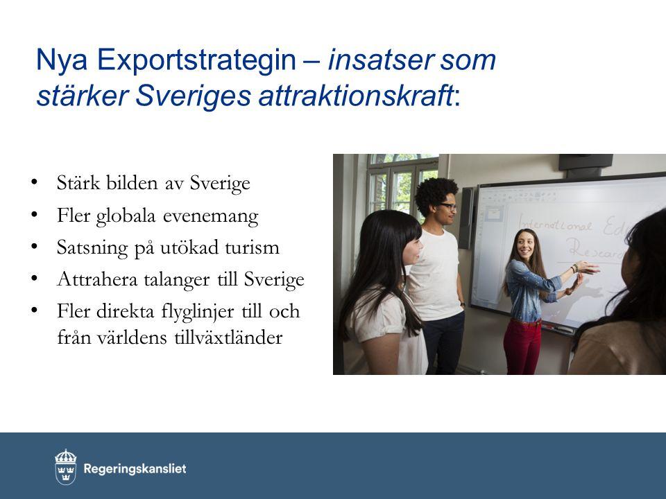 Nya Exportstrategin – insatser som stärker Sveriges attraktionskraft: