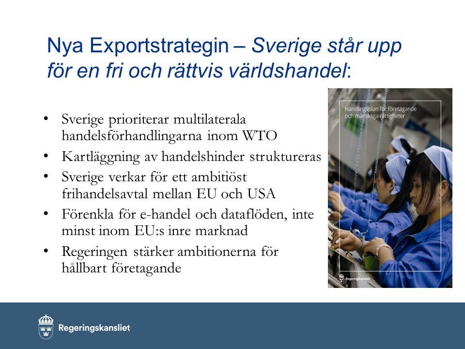 Nya Exportstrategin – Sverige står upp för en fri och rättvis världshandel: