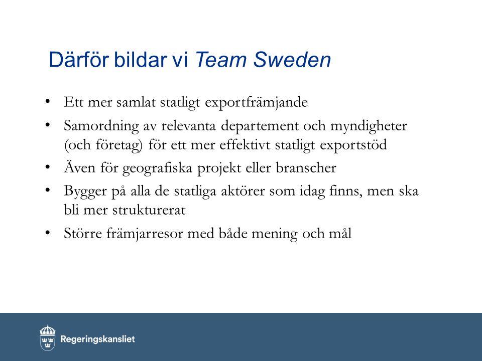 Därför bildar vi Team Sweden