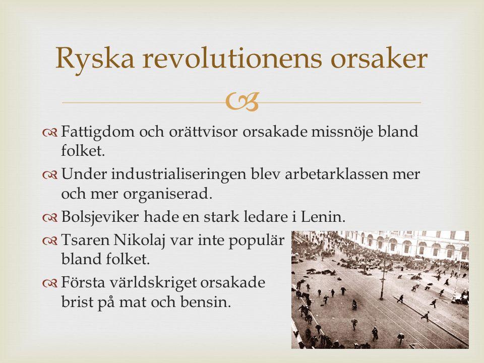 Ryska revolutionens orsaker