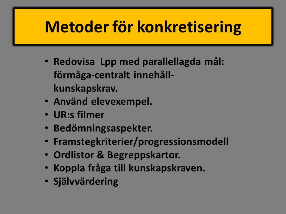 Metoder för konkretisering