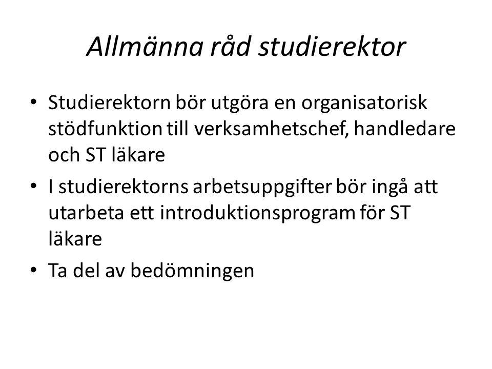 Allmänna råd studierektor